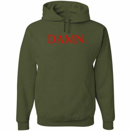Kendrick Lamar DAMN Red Logo Hoodie Hip Hop Sweatshirt Hooded Jumper Compton Rap