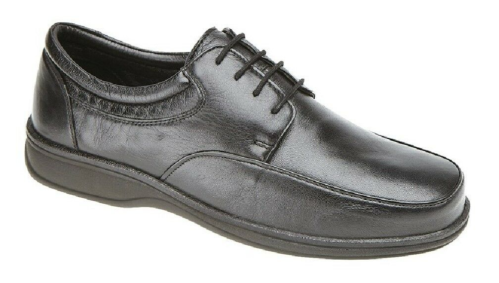 Roamers Leather 4 Eye Lightweight Lace Up Mocassin Shoes