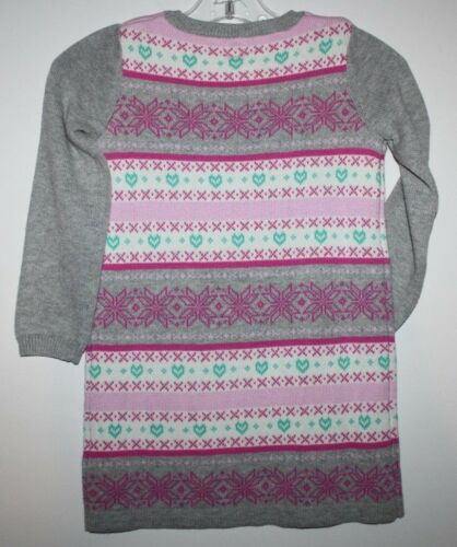 baby Gap NWT Girl/'s 100/% Cotton Fair Isle Knit Sweater Dress Tunic