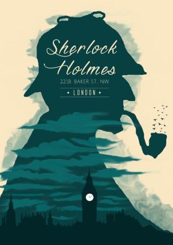 Sherlock Holmes Watson London Detective Tv Show Series Movie Film Poster Print