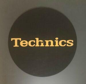 Technics-Black-amp-Gold-DJ-Slipmats-sl1200s-mk5-m3d-m5g-ou-toute-Platine-UNIQUE