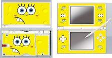 nintendo DS Lite - SPONGE BOB - 4 Piece Decal / Sticker Skin vinyl