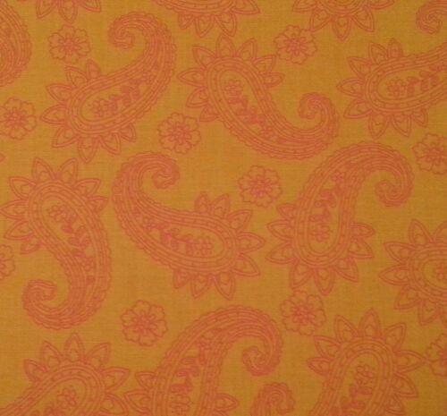Pop Paisley by Denise Urban Quilting Treasures BTY Dark Orange on Orange