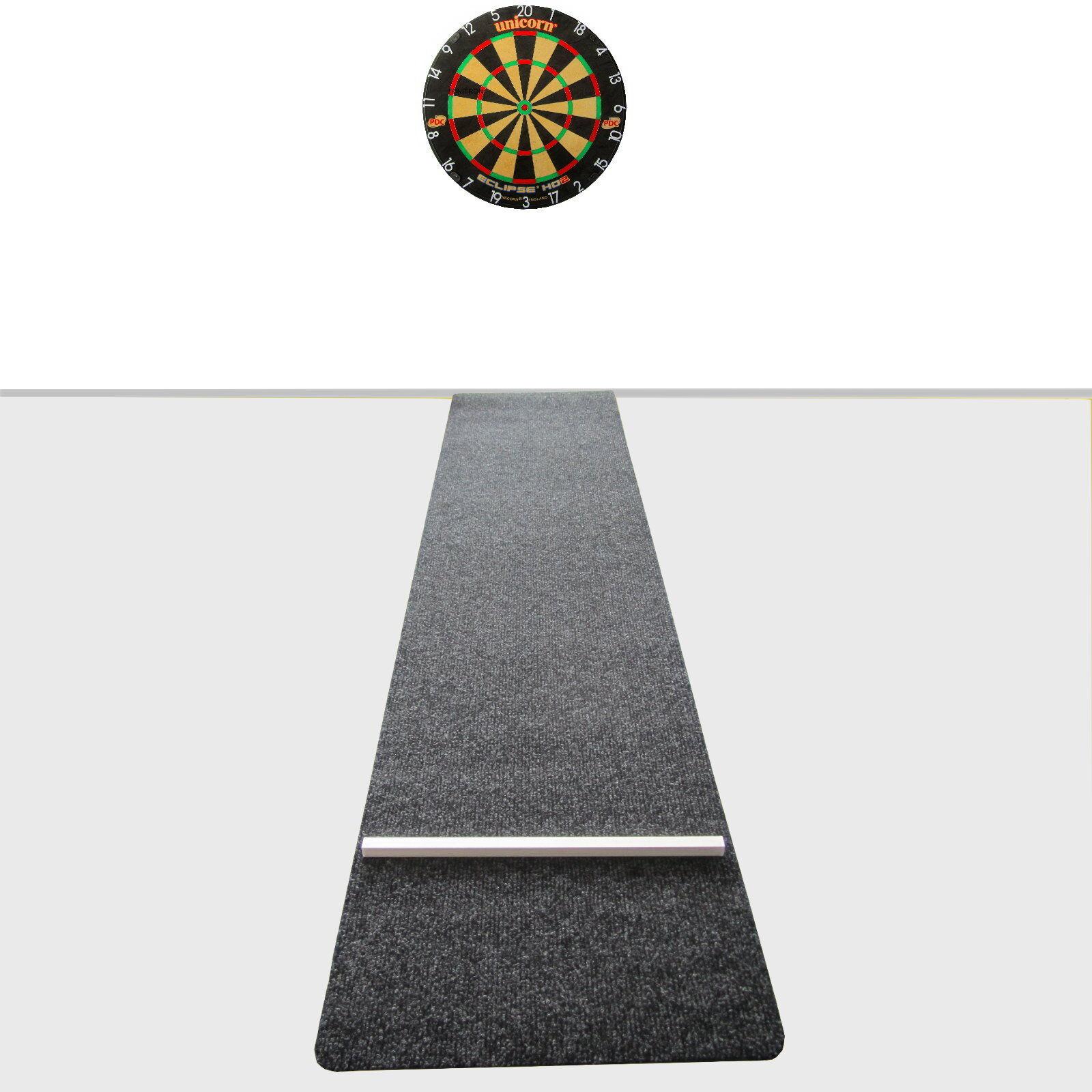 UNICORN Eclipse HD2 Steel Dart Board und DSX Dartmatte Dartteppich Set komplett  | Verschiedene Stile und Stile