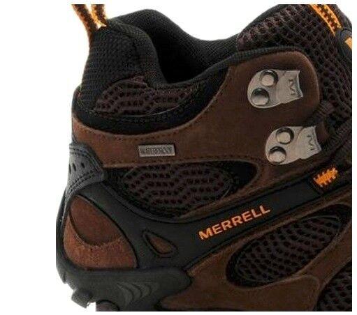 Merrell verdeis Vent Vent Vent Mid Waterproof Marroneee Stone Hiking Trails stivali RARE DS 46e0d4