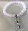 Silver Fertility Goddess Charm Moonstone Crystal Gemstone Bead Bracelet