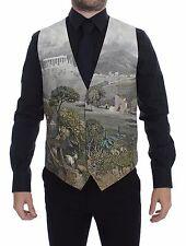 NWT $900 DOLCE & GABBANA Taormina Print Cotton Dress Vest Blazer IT50 / US40 / L