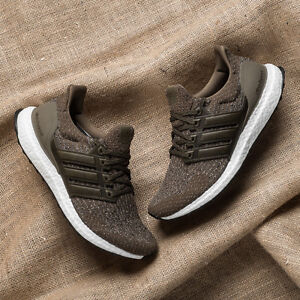 27fdb8fc50e Adidas Ultra Boost Trace Cargo Olive 3.0 Leather Cage - Mens Size ...