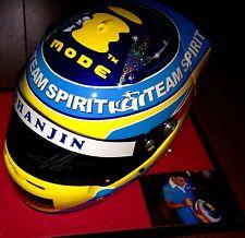 Fernando Alonso 2005 escala completa firmada a mano equipo Réplica Casco con cert. de autenticidad