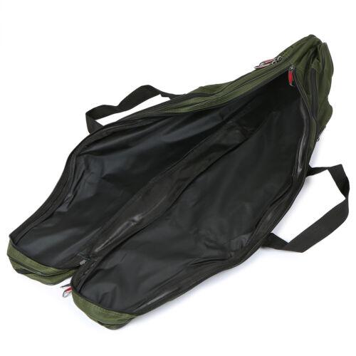 Lixada 3 Layers Fishing Pole Bag Portable Folding Rod Carry Case Fishing