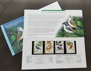 SJ-Highland-Birds-Of-Malaysia-1997-Animal-Fauna-p-pack-MNH