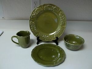 ... JCPenney-Home-Brand-Stoneware-16-Piece-Amberly-Olive- & JCPenney Home Brand Stoneware 16 Piece Amberly Olive Green Dish Set ...