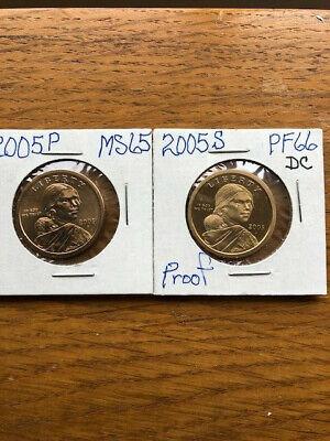 2005 Philadelphia Mint Sacagawea Dollar BU