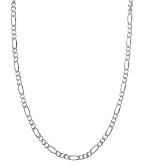 Italian Made .925 Sterling Silver 20 Inch Figaro Chain Link Necklace 4mm N98