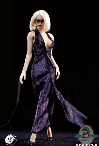 Pop Toys 1 6 Style Series Monroe Dress Suit in Purple POP-F23B