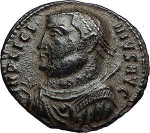 LICINIUS-I-Authentic-Ancient-Roman-Original-317AD-Coin-JUPITER-amp-VICTORY-i67764
