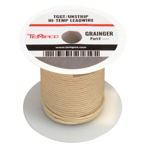 High Temp Lead Wire,18AWG,100ft,Natural LDWR-1020