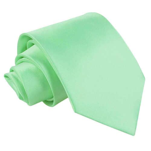 DQT raso Plain Solid Verde Menta Formale Matrimonio Cravatta Da Uomo Classic