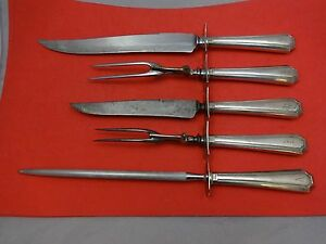 Other Antique Furniture Devoted Fairfax By Durgin-gorham Sterling Silver Carving Set Roast & Steak 5pc We Take Customers As Our Gods Furniture