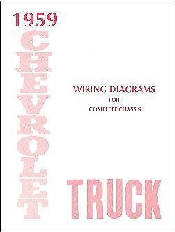 1959  59      CHEVROLET TRUCK WIRING   MANUAL