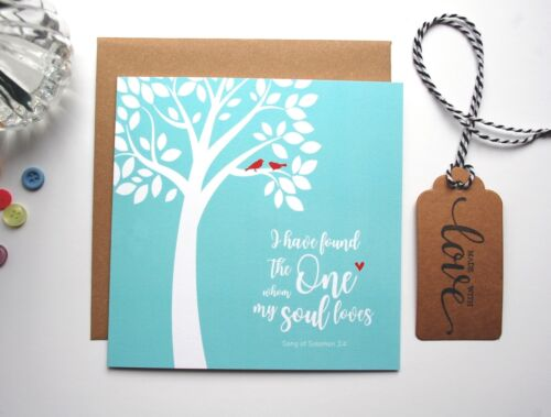 I have found the one Song of Solomon 3 Bible verse Scripture Wedding Card GC23A