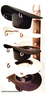 American-Made-Cowboy-Hat-Holder-with-Stars-Powder-Coated-Genuine-Horse-shoe