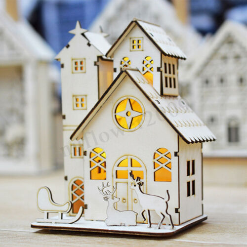 DIY Miniature Wooden Doll House Model Handmade Kit Kids Xmas Gift wood Toys