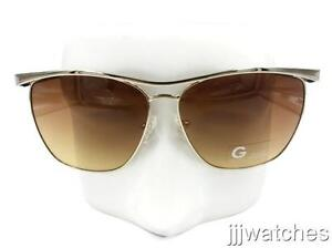 41b89c5fd186a G by Guess Women Aviator Brown Gradient Sunglasses GGU1117 GLD-34 60 ...