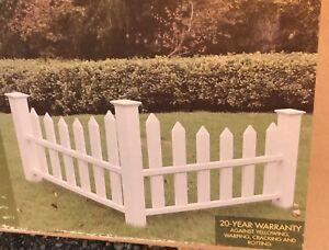 Image Is Loading Yard Works Corner Accent Picket White Vinyl Fence