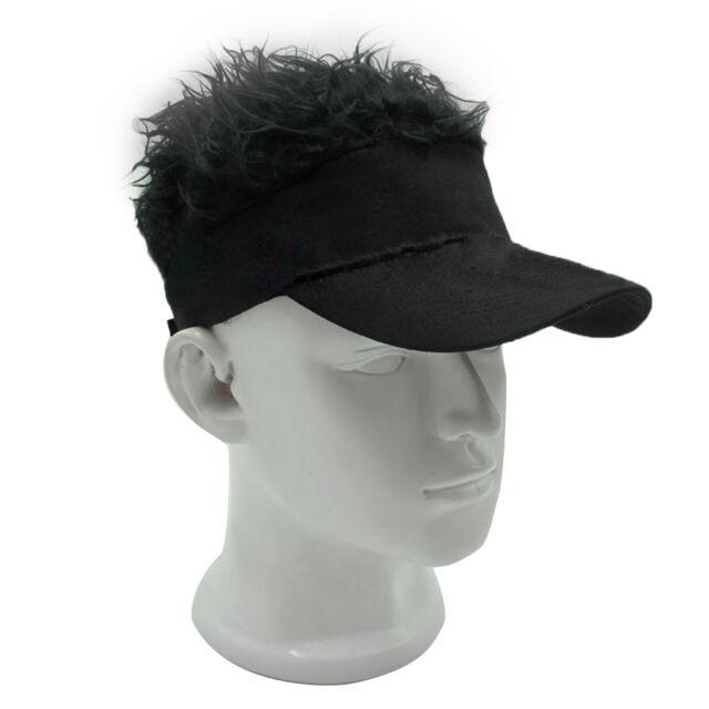 Funny Men Adjustable Flair Hair Visor Casquette Hat Golf Fashion Wig ... 4722e811740a