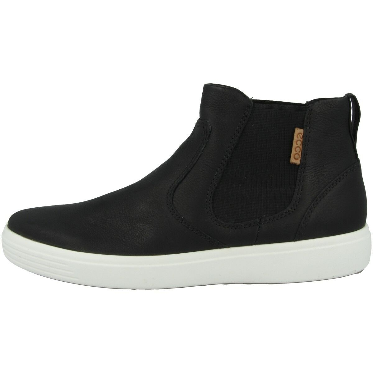 Ecco Soft 7 Mid Cut Schuhe Men Herren Leder Turnschuhe High Top Stiefel 430124-59075