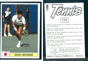 Shuzo-Matsuoka-JAP-Tennis-1992-Edizioni-Panini-MINT-n-110
