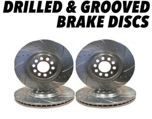 Drilled and Grooved Front Rear Brake Discs For Mazda MX-5 1.6 98-05