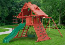 Gorilla Playsets Wooden Playground Swing Set Blue Ridge Navigator Ebay