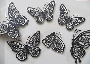 Glitter Vynl Card3d Butterfly Wall Stickers Wall Decors Wall Art