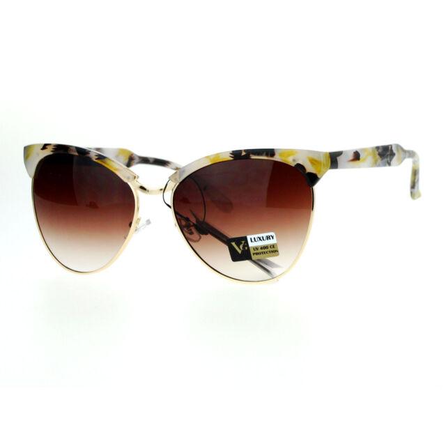 VG Luxury Diamante Cat Eye Rhinestone Designer Womens Sunglasses 100/%UV400 1863