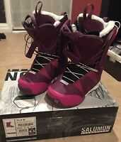 Salomon F20 W Womens 4,5,6.5 Advanced Snowboard Boots 2013 Msrp$270