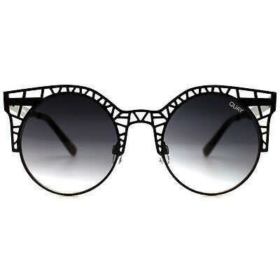 "NEW QUAY AUSTRALIA Black ""FLEUR"" Sunglasses -SALE"