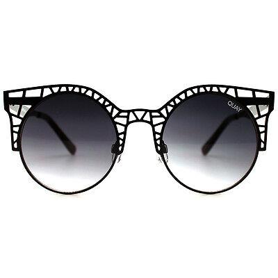 "NEW QUAY AUSTRALIA Black ""FLEUR"" Sunglasses -SALE"