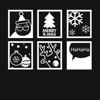 Merry Christmas Santa Wall Decals Removable Window Stickers Decor Kids DIY Art