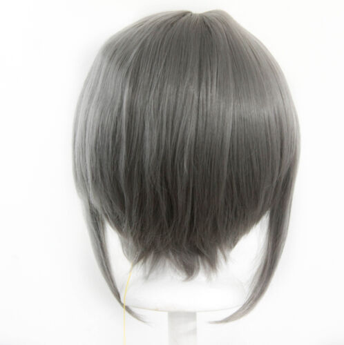 12/'/' Bob Cut Slate Gray Synthetic Cosplay Wig NEW