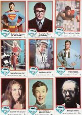 SUPERMAN THE MOVIE SERIES 1 1978 TOPPS BASE CARD & STICKER SET OF 77/6/6 DC