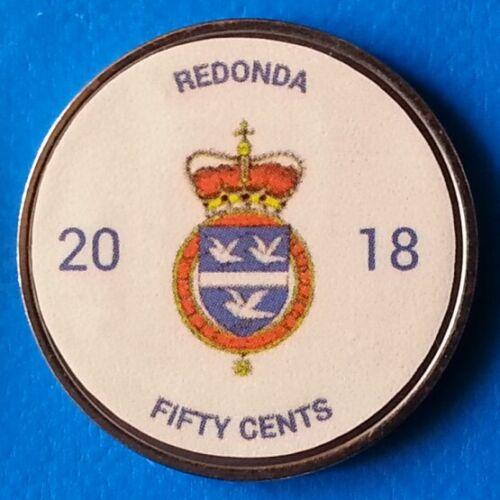 Redonda Island 50 cents 2018 UNC Hippo Hippopotamus unusual coin