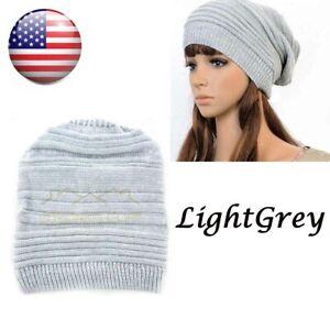 Men-Women-Unisex-Knit-Baggy-Beanie-Winter-Hat-Ski-Slouchy-Chic-Knitted-Cap-Light