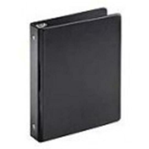 Black Pack Of 12 8.5 x 5.5 in Cardinal 07201 Mini Round Ring Binder 1 in