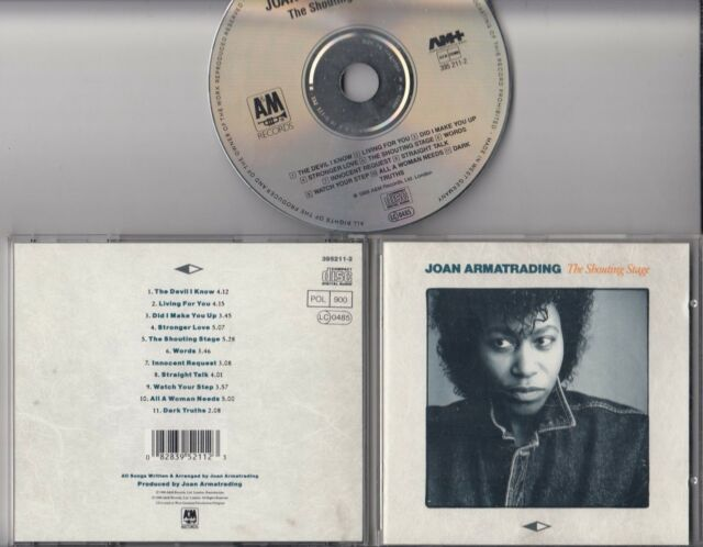 JOAN ARMATRADING The Shouting Stage 1988 CD W GERMANY PDO A&M SILVER INNER