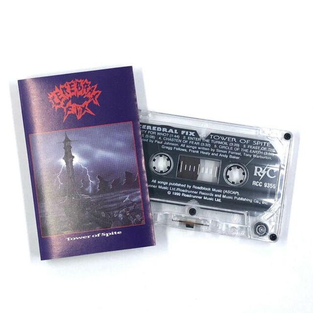 CEREBRAL FIX Tower Of Spite Cassette Tape 1990 Thrash Hardcore Rare