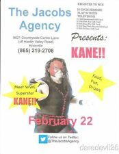 2014 Kane The Jacobs Agency WWE Wrestling Knoxville, TN Appearance Flyer