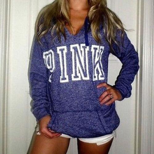 Damen Hoodies Sweatshirt Kapuzenpullover Pullover Hooded Sweater Top Bluse 34-44
