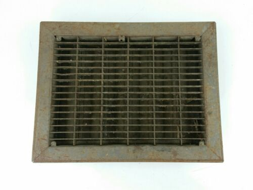 "Vintage Metal Heat Register Grate Vent w// Louvers 9/"" x 12/"" Rectangle"